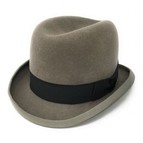Homburg Hat - Wool - Grey